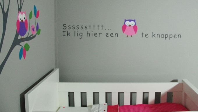 muurteksten - in babykamer, kinderkamer en woonkamer, Deco ideeën